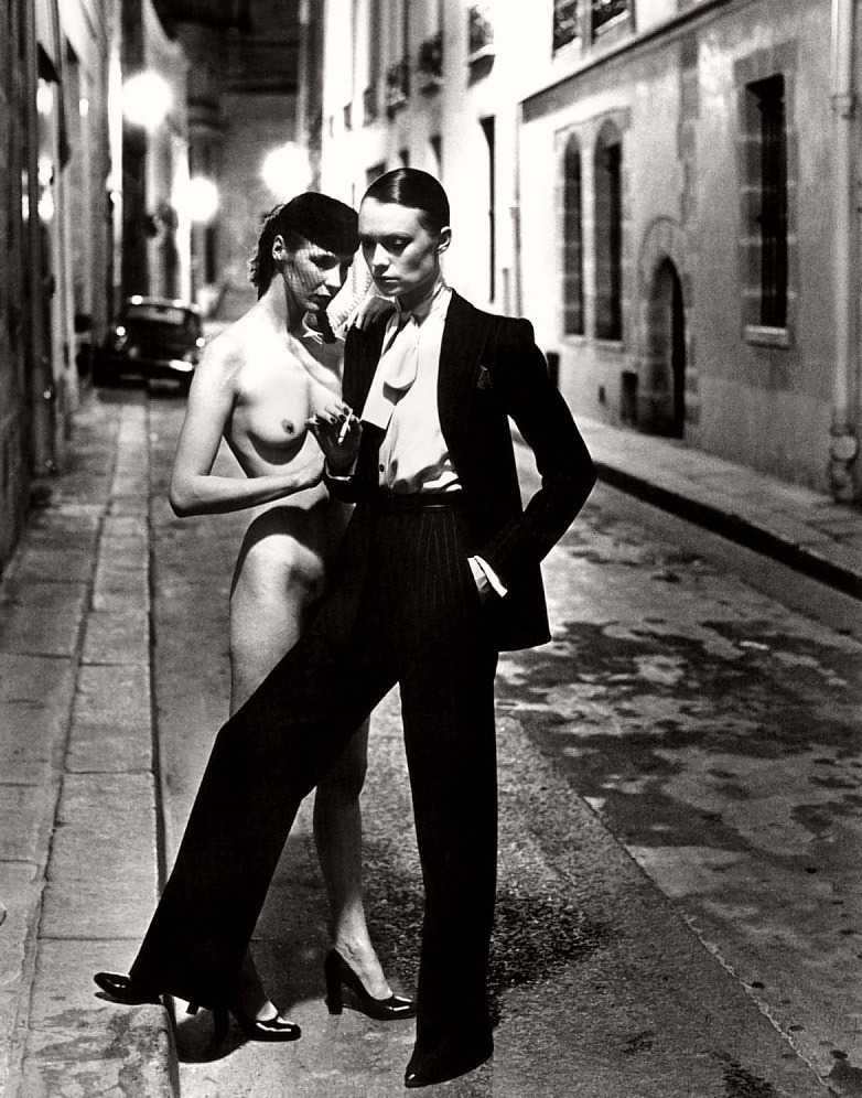 Helmut Newton, Fashion Yves Saint Laurent, Vogue France, Paris, 1979