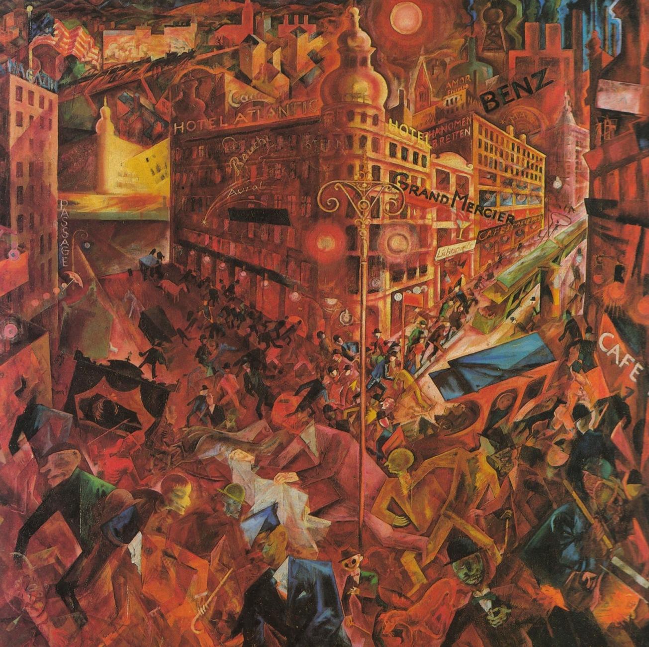 Georg_Grosz_la_grande_ville_1917 Métropolis 1917 vision menaçante de la ville