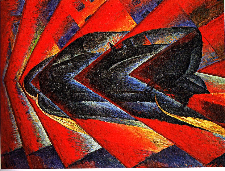 MVT-Futurisme-Luigi Russolo, Dynamisme d'une automobile, 1912-1913