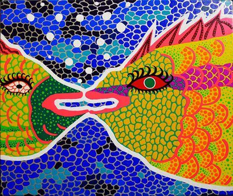 yayoi-kusama-japanese-b-1929-distant-love-1989-acrylic-on-canvas-37-x-45-cm-yayoi-kusama