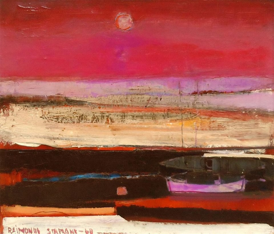 raimonds-staprans-americanlatvian-b-1926-purple-sunset-1968-oil-on-canvas-22-x-25-inches-private-collection